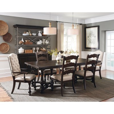 smoked molasses traditional 7piece dining set caldwell