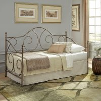 B350953/DAYBEDW/LINK Traditional Aged Iron Daybed - Cambry