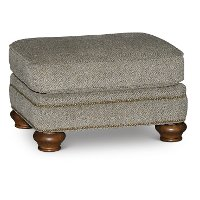 Casual Traditional Urban Wheat Ottoman - Reed