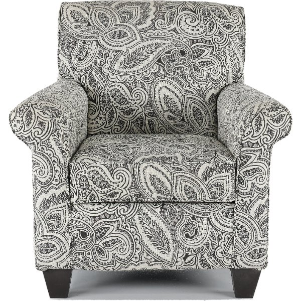 ... Classic Contemporary Pewter Paisley Accent Chair   Griffin