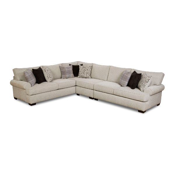 White And Gray 3 Piece Sectional Sofa With Laf Griffin