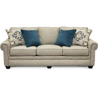 Casual Traditional Taupe Sofa - Heather