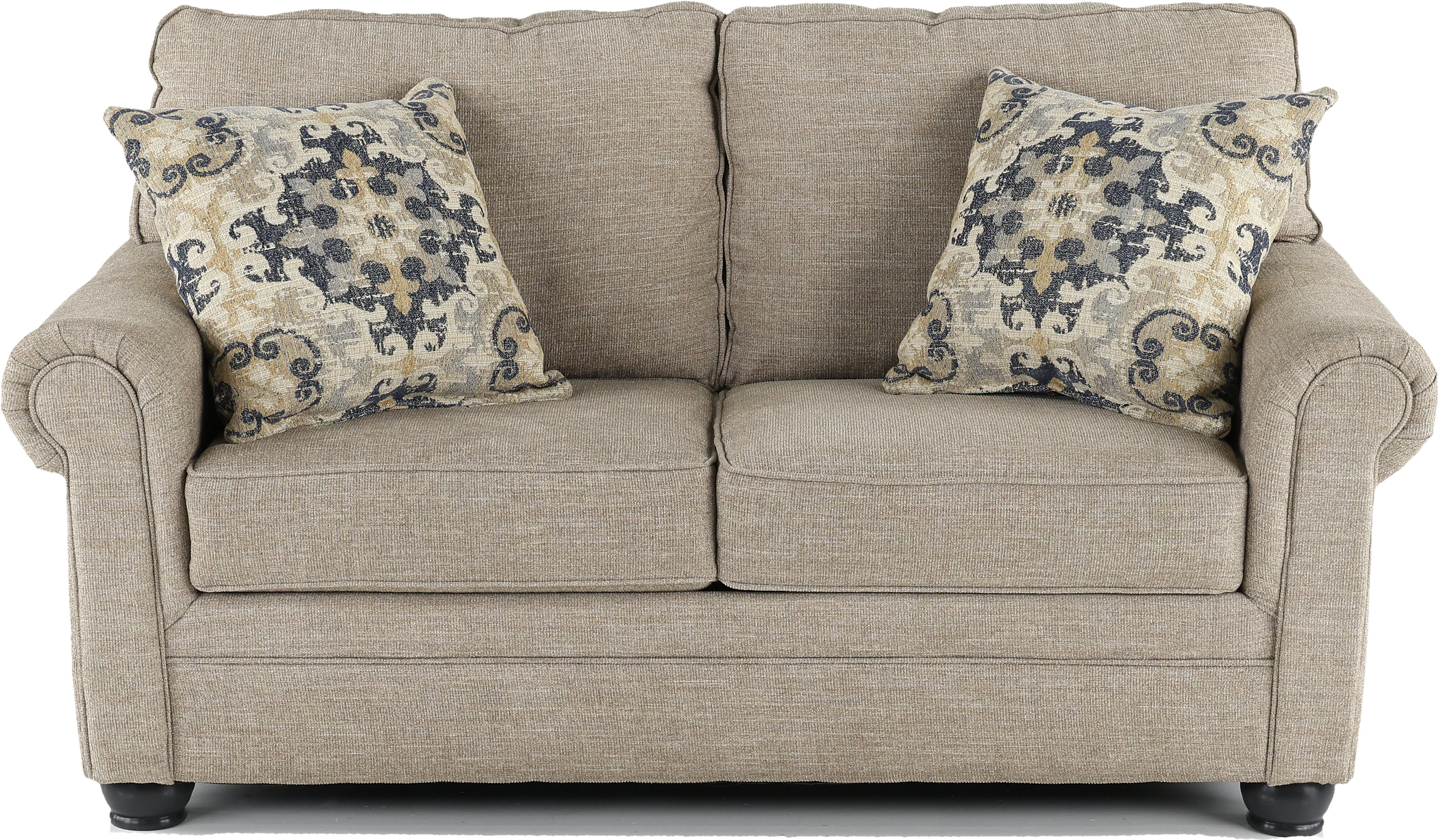 Casual Traditional Taupe Sofa Sleeper Loveseat Set Heather Rc Willey Furniture Store
