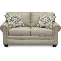 Casual Traditional Taupe Loveseat - Heather