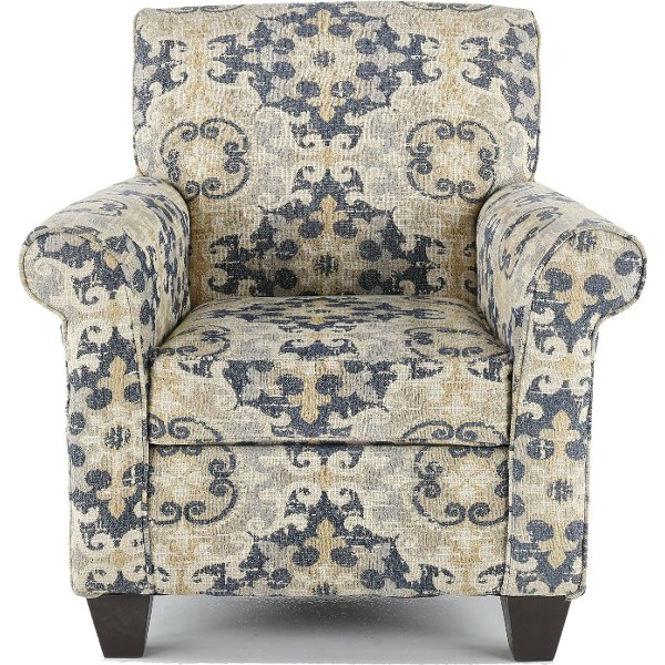 ... Casual Traditional Taupe U0026 Gray Accent Chair   Heather