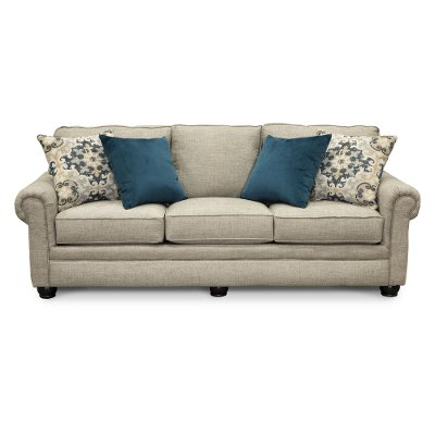 Casual Traditional Taupe Sofa Bed - Heather