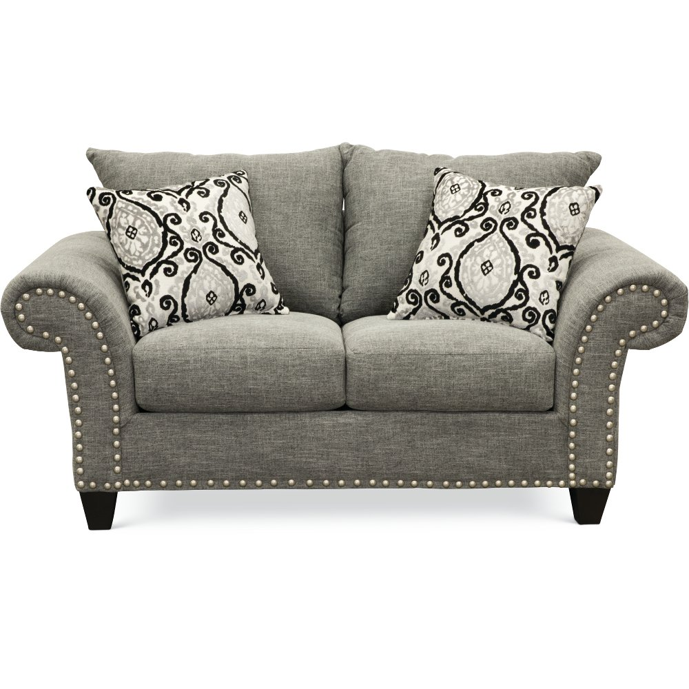 Casual Traditional Carbon Gray Loveseat Paradigm Rc Willey Furniture