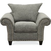 Casual Traditional Carbon Gray Chair - Paradigm