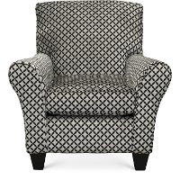 Contemporary Onyx Black & Gray Accent Chair - Paradigm