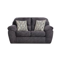 Casual Contemporary Steel Blue Loveseat - Imprint
