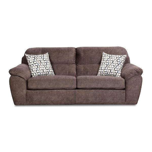 Bon Clearance Casual Contemporary Cocoa Brown Sofa   Imprint