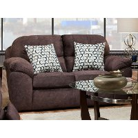 Casual Contemporary Cocoa Brown Loveseat - Imprint