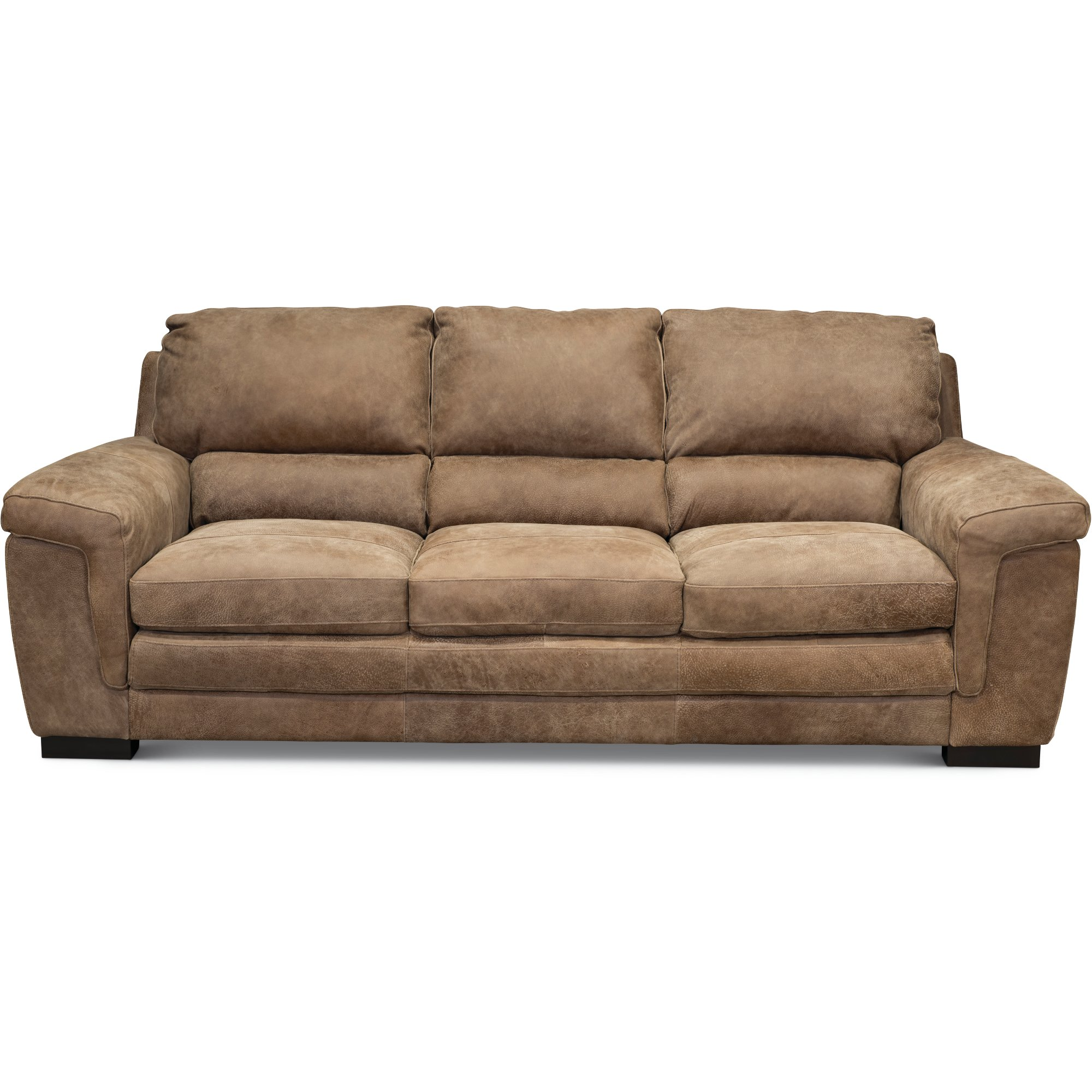 Casual Contemporary Espresso Leather Sofa   Outback   RC Willey Furniture  Store