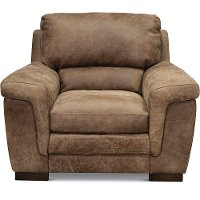 Casual Contemporary Espresso Leather Chair - Outback