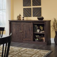 65 Inch Coffee Brown Oak TV Stand - New Grange