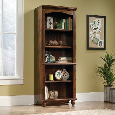 72 Inch Cherry Brown Bookcase - Harbor View