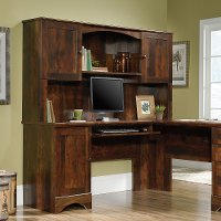 L Shaped Cherry Corner Desk - Harbor View