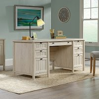 Chalked Chestnut Beige Executive Office Desk - Costa
