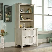 Antique White 2 Drawer Lateral File Cabinet with Hutch - Costa