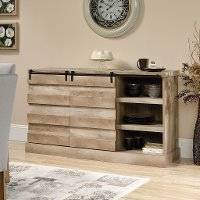 60 Inch Lintel Oak Rustic TV Stand - Cannery Bridge