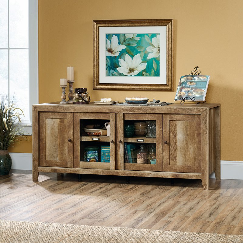 rustic wood tv stand 70 Inch Rustic Oak TV Stand   Dakota Pass | RC Willey Furniture Store rustic wood tv stand