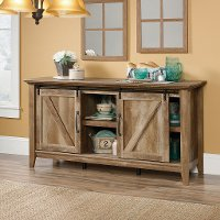 65 Inch Rustic Oak TV Stand - Dakota Pass