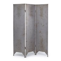 Metal 3-Panel Locker Room Screen Divider