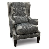 Classic Gray Wingback Chair - St. James