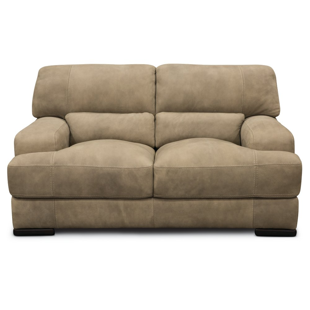 Casual Contemporary Greystone Leather Loveseat   Stallone   RC Willey  Furniture Store
