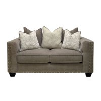 Traditional Gray Loveseat - Caprice