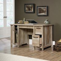 Lintel Oak Computer Desk - Cannery Bridge