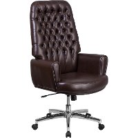 High Back Tufted Swivel Chair