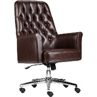 Mid-Back Tufted Swivel Chair