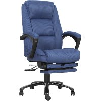 Blue Executive Reclining Swivel Office Chair