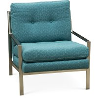 Modern Teal Metal Accent Chair - Cordoba