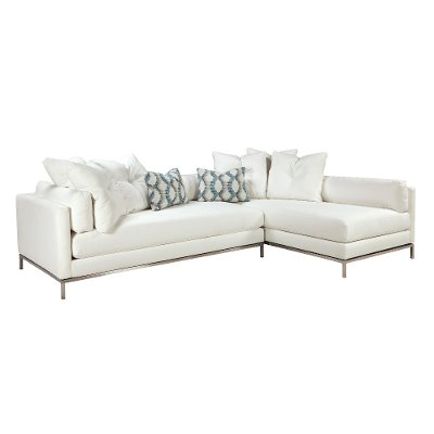 Modern Pearl White 2-Piece Sectional - Cordoba  sc 1 st  RC Willey : cordoba 2 piece sectional - Sectionals, Sofas & Couches