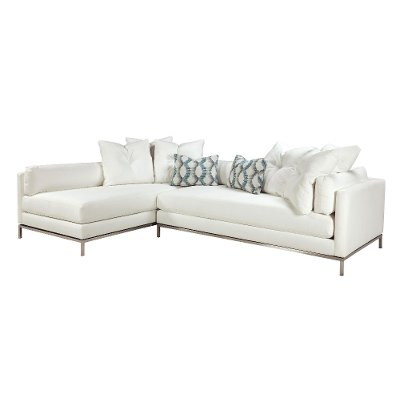 Modern Pearl White 2-Piece Sectional - Cordoba  sc 1 st  RC Willey : rc willey sectional - Sectionals, Sofas & Couches