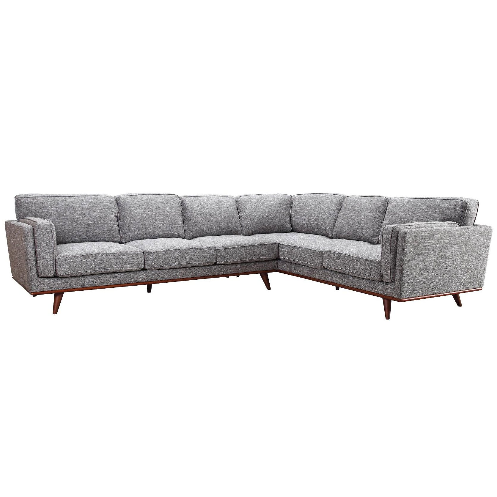 Mid Century Modern Gray 2 Piece Sectional Camden