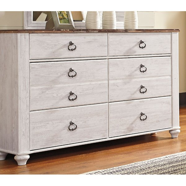 ... Classic Rustic Whitewashed Dresser   Millhaven