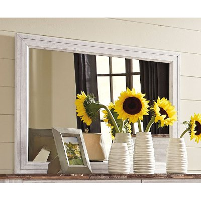 Classic Rustic Whitewash Mirror - Millhaven