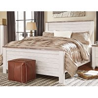 Classic Rustic Whitewash Queen Bed - Millhaven