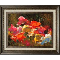 Poppies In Sunshine Framed Wall Art