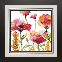 Blooms and Green Floral Framed Wall Art