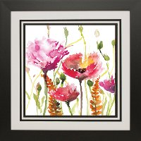 Blooms and Buds Framed Wall Art