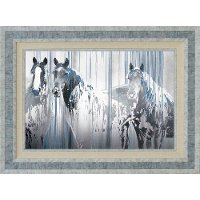 Three's Company Horses Framed Wall Art