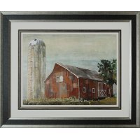 39 barn silo tulsa 39 framed wall art rc willey furniture for Home decor tulsa