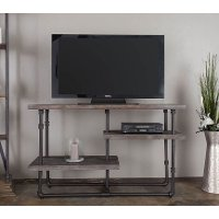 54 inch rustic industrial wood tv stand brixton rc for American furniture warehouse tv stands