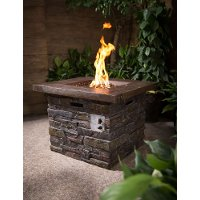 Brick Outdoor Square Gas Fire Pit - Nusa
