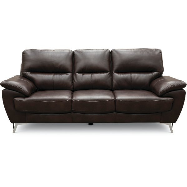 contemporary chocolate brown sofa galactica - Sofa Leather