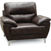 Contemporary Chocolate Brown Chair - Galactica